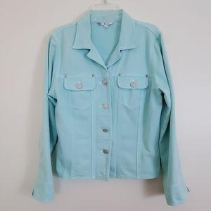 Cabi Pastel Mint Color Jean Jacket - S